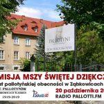 Transmisja Mszy Świętej dziękczynnej za 100 lat pallotyńskiej obecności w Ząbkowicach Śląskich